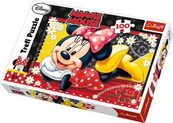 Puzzle Trefl 100 Minnie Fericita