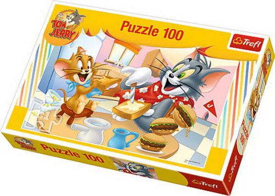 Puzzle Trefl 100 Un Mic Dejun Delicios Cu Tom Si Jerry