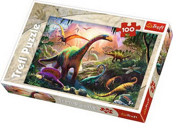 Puzzle Trefl 100 Pe Taramul Dinozaurilor