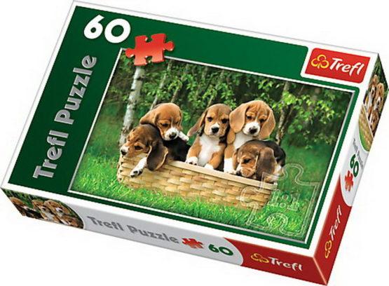 Puzzle Trefl 60 Catelusi Beagle