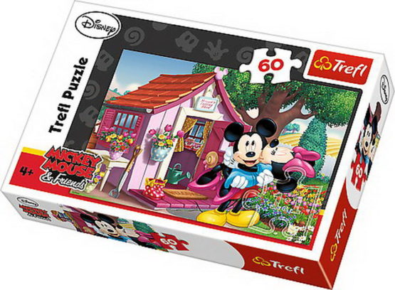 Puzzle Trefl 60 Mickey Si Minnie In Gradina