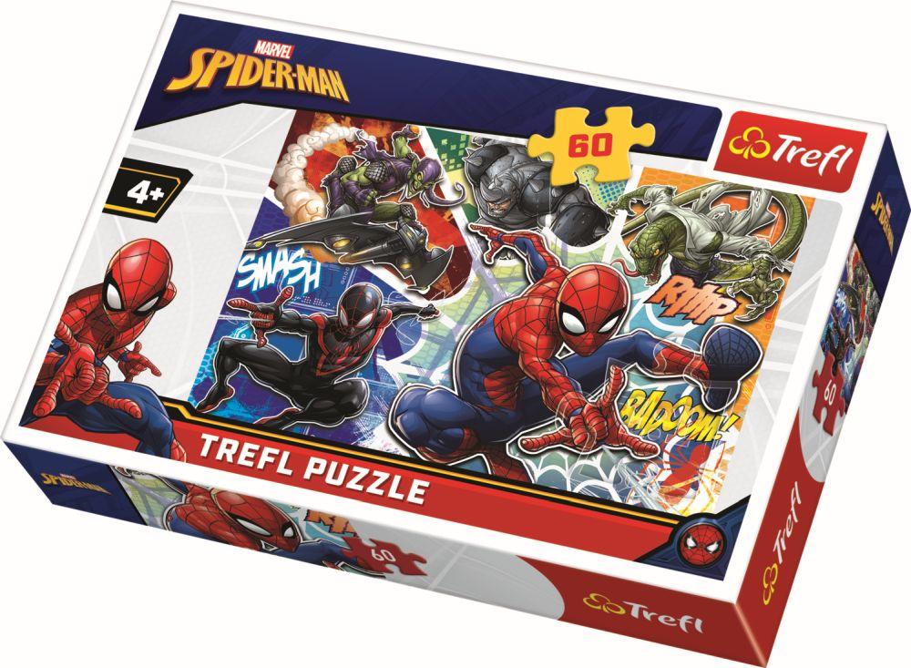 Puzzle Trefl 60 Curajosul Spiderman