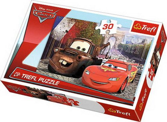 Puzzle Trefl 30 Bucsa Si Fulger Mcqueen In Europa