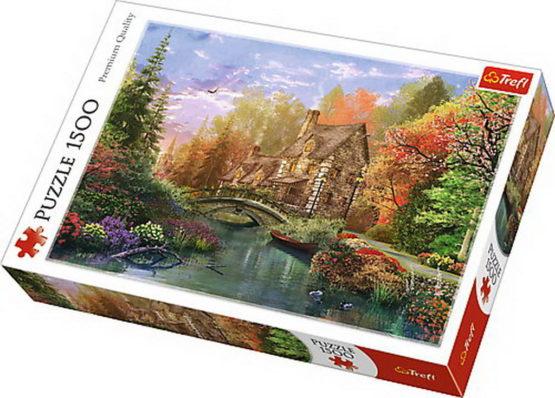 Puzzle Trefl 1500 Casuta De Langa Lac