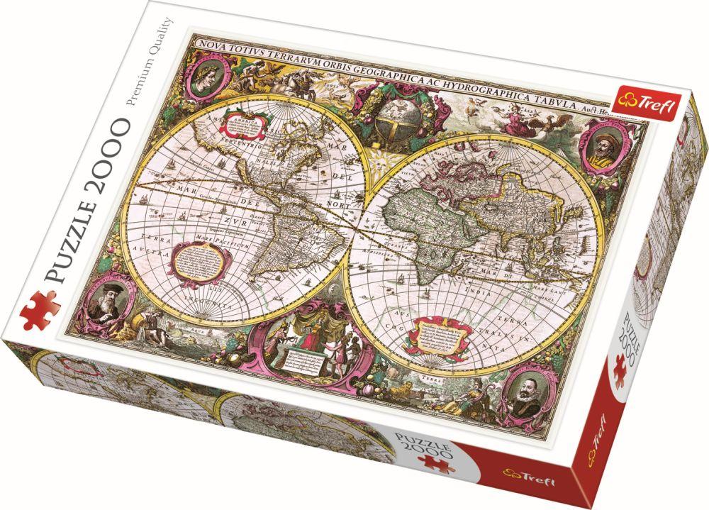 Puzzle Trefl 2000 Harta Noua A Mapamondului
