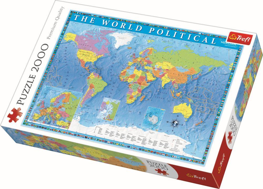 Puzzle Trefl 2000 Harta Politica A Lumii