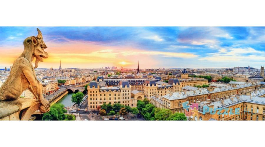 Puzzle Trefl Panorama 1000 Imagine De Pe Catedrala Notre Dame Paris