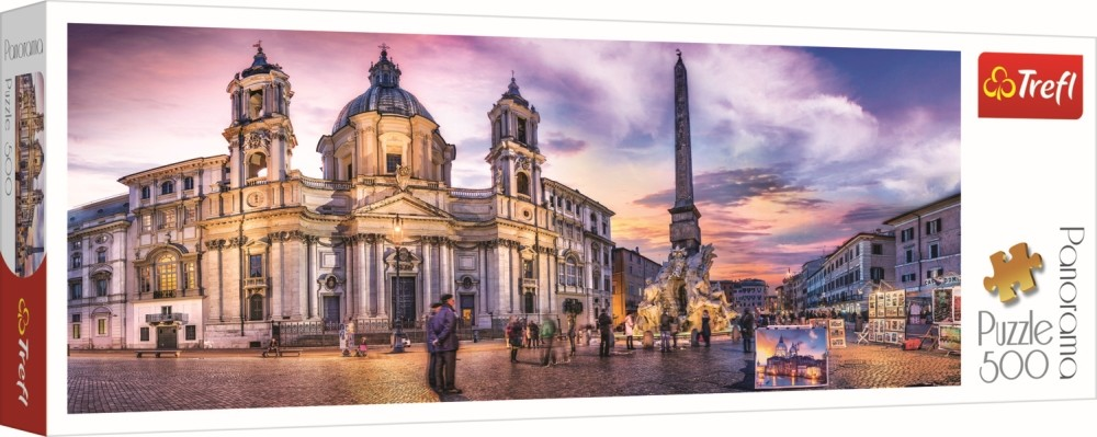 Puzzle Trefl 500 Panorama Piata Navona Din Roma