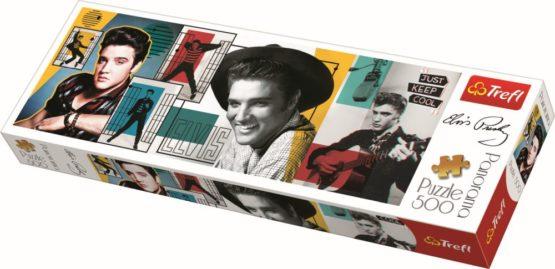 Puzzle Trefl Panorama 500 Colaj Elvis Presley