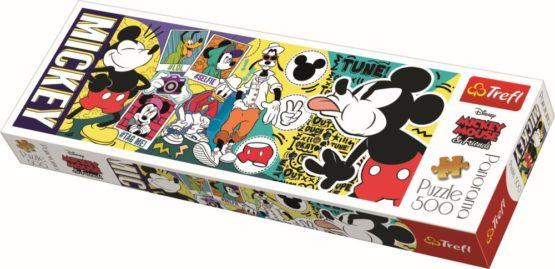 Puzzle Trefl Panorama 500 Legendarul Mickey Mouse