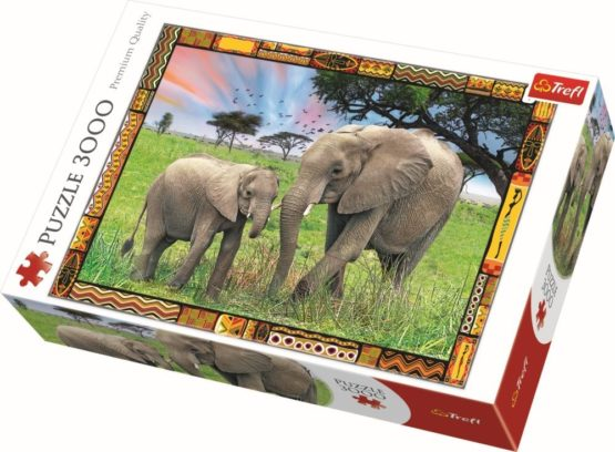 Puzzle Trefl 3000 Elefanti In Savana