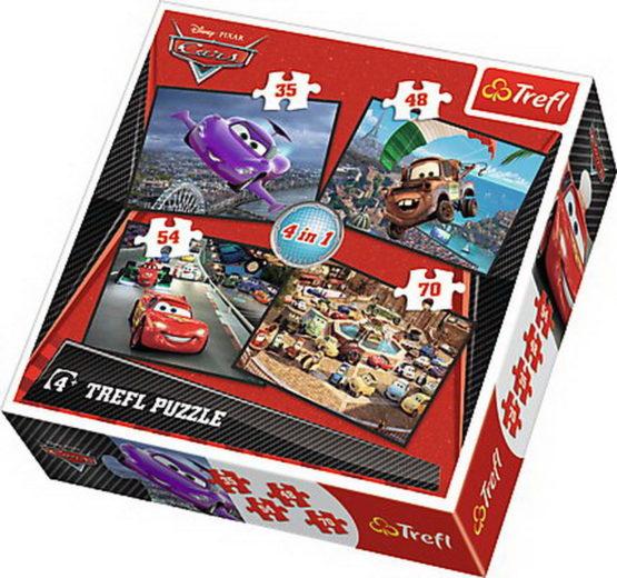 Puzzle Trefl 4in1 Startul Unei Calatorii Cars