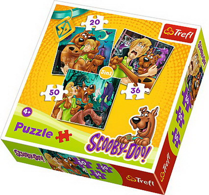 Puzzle Trefl 3in1 Atentie La Fantome Scooby Doo