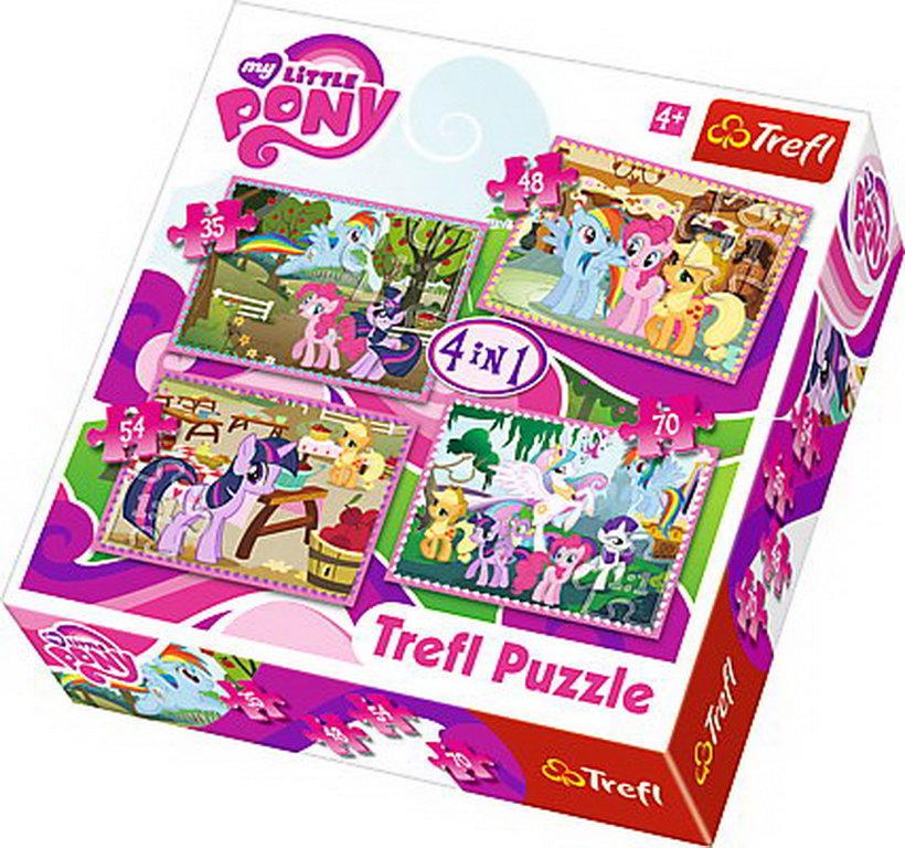 Puzzle Trefl 4in1 Poneii In Vacanta