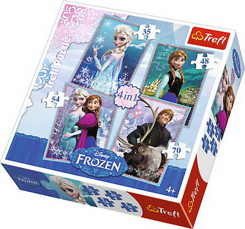 Puzzle Trefl 4in1 Frozen
