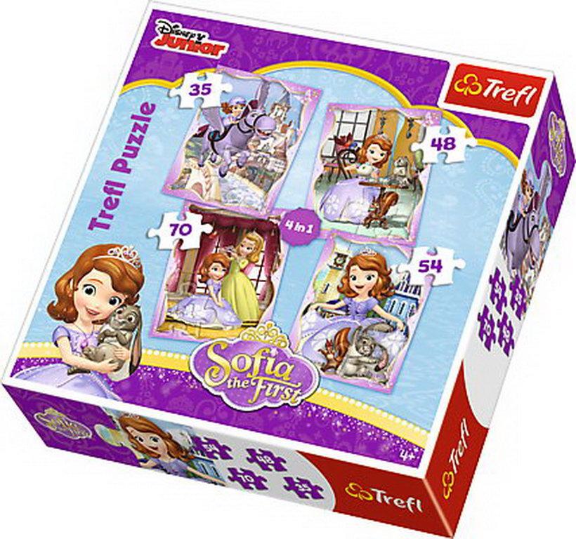Puzzle Trefl 4in1 O Zi Fericita Cu Sofia