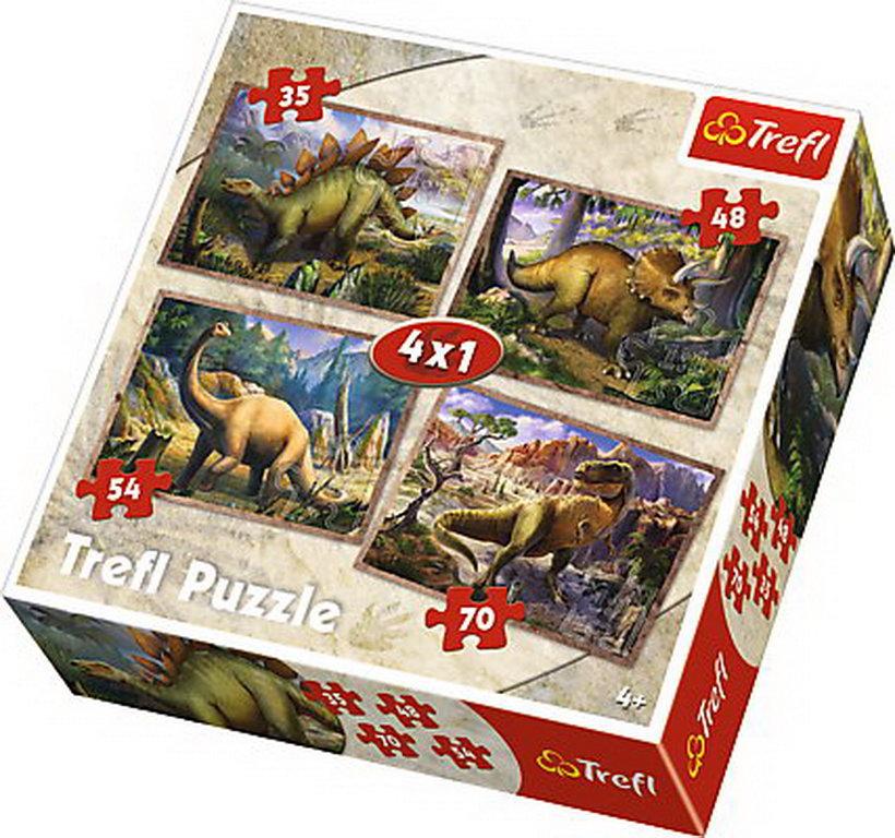 Puzzle Trefl 4in1 Dinozauri