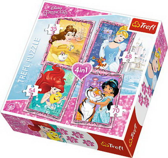 Puzzle Trefl 4in1 Printese Cu Prieteni Dragi