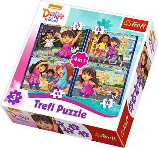 Puzzle Trefl 4in1 Distractie Cu Dora
