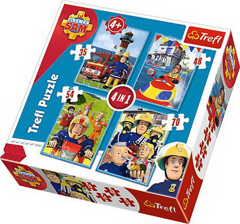 Puzzle Trefl 4in1 Echipa Lui Sam