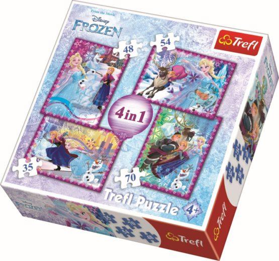 Puzzle Trefl 4in1 Frozen Iarna Este Magica