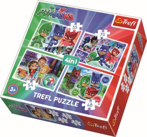 Puzzle Trefl 4in1 Echipa Pj Mask
