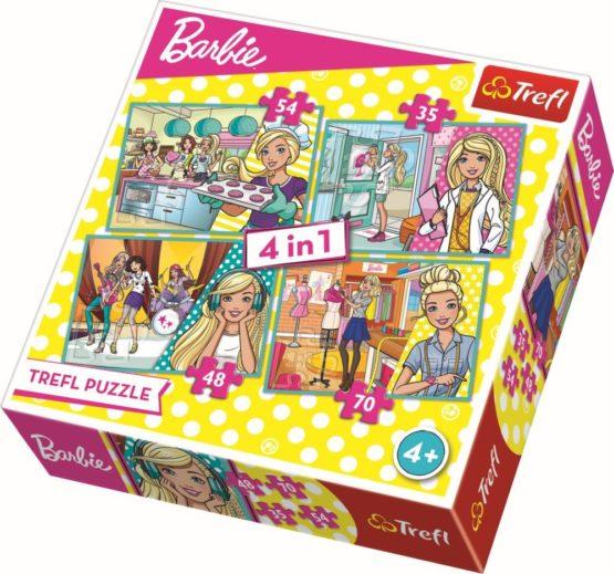 Puzzle Trefl 4in1 Barbie Face Cariera