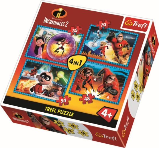 Puzzle Trefl 4in1 Familia Incredibila