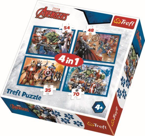 Puzzle Trefl 4in1  Razbunatorii Neinfricati