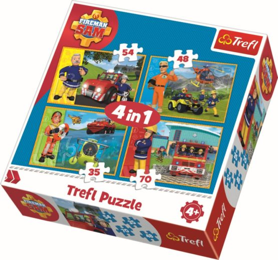 Puzzle Trefl 4in1 Pompierul Sam In Actiune