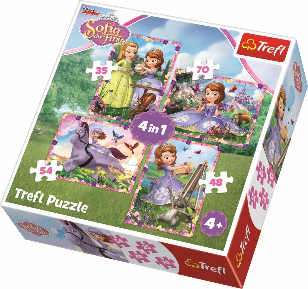 Puzzle Trefl 4in1 Lumea Sofiei