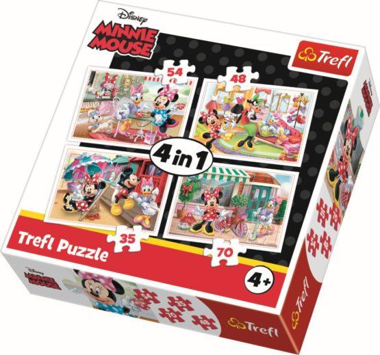 Puzzle Trefl 4in1 Minnie Cu Prietenii