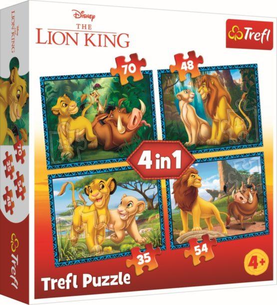 Puzzle Trefl 4in1 Regele Leu Si Prietenii