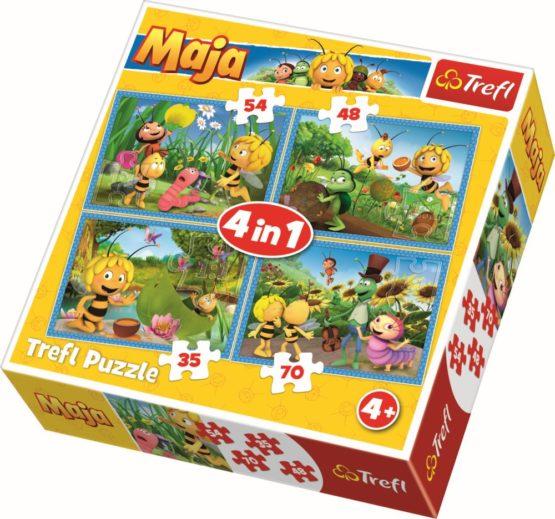 Puzzle Trefl 4in1 Aventurile Albinutei Maya