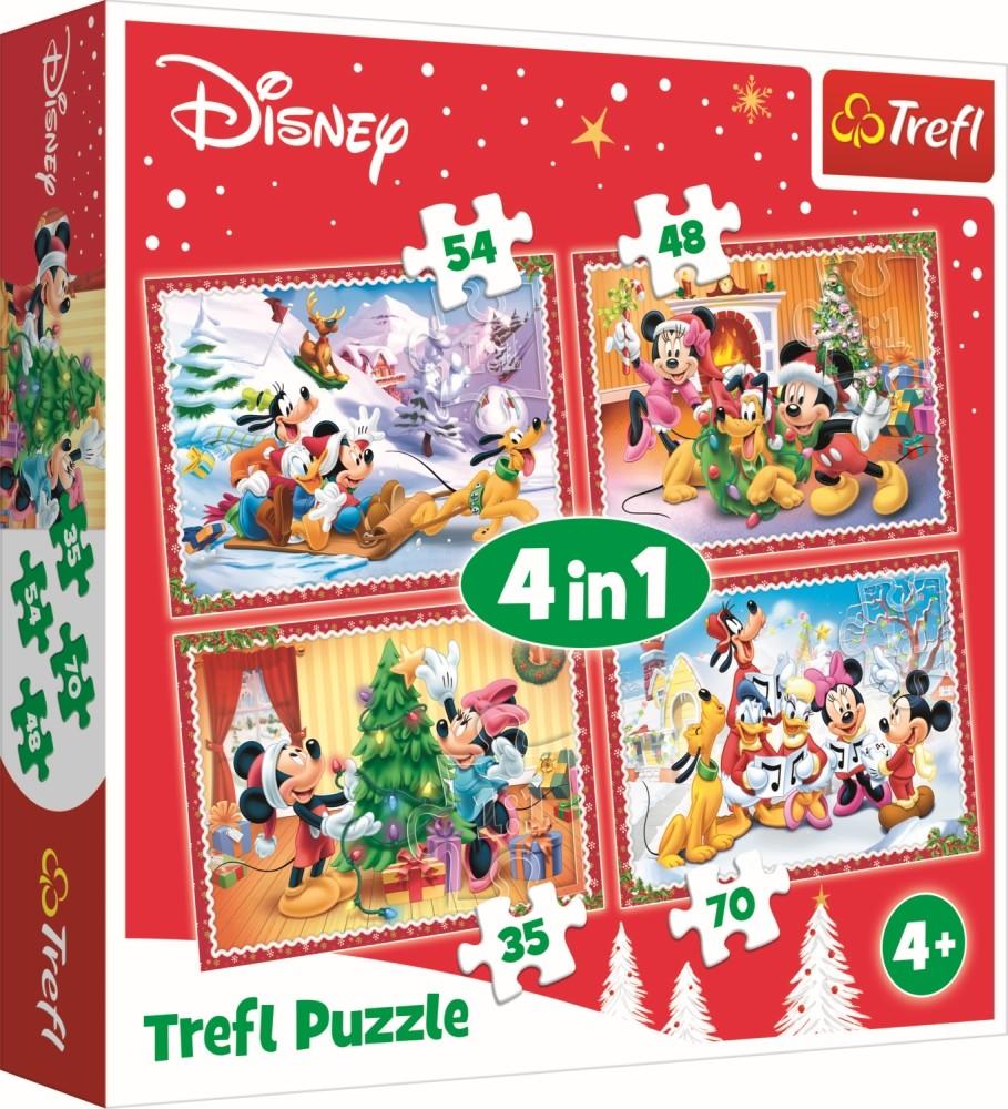 Puzzle 4in1 Sarbatorind Craciunul