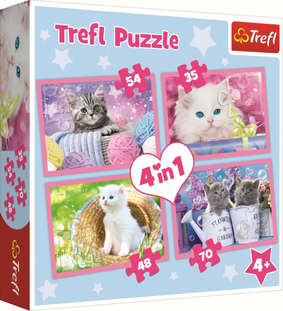 Puzzle Trefl 4in1 Pisicile Se Distreaza