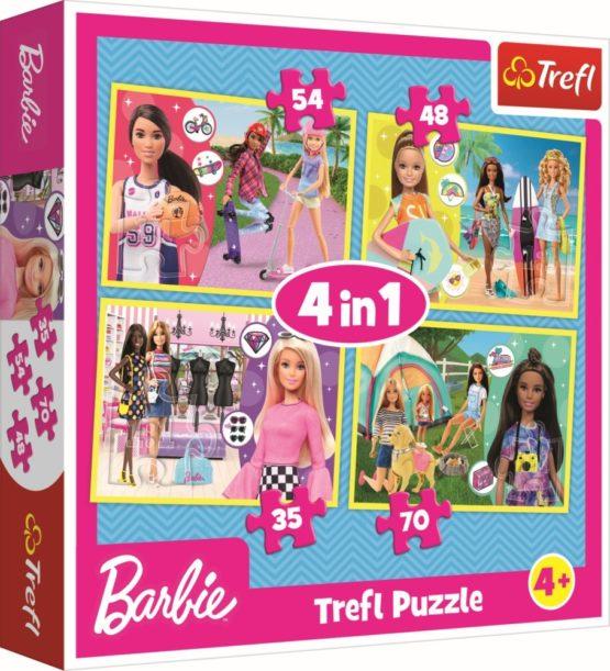 Puzzle Trefl 4in1 Lumea Lui Barbie