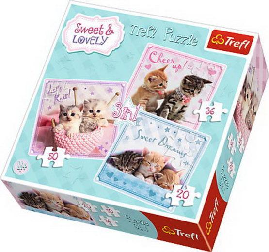 Puzzle Trefl 3in1 Pisici Dragalase