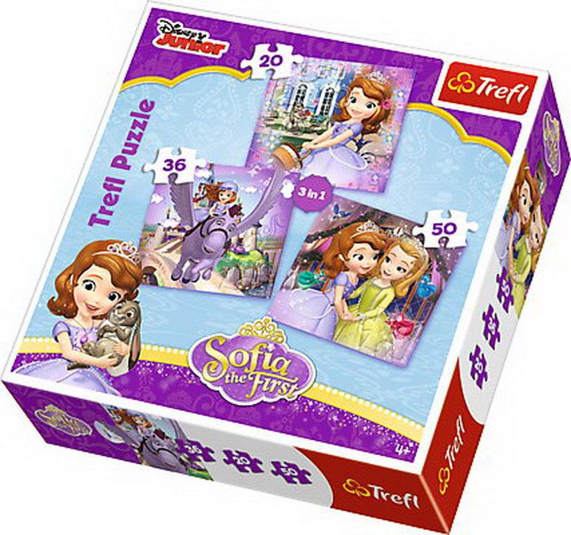 Puzzle Trefl 3in1 Sofia Cu Prietenii