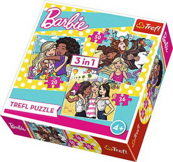 Puzzle Trefl 3in1 Prietenie Adevarata Barbie