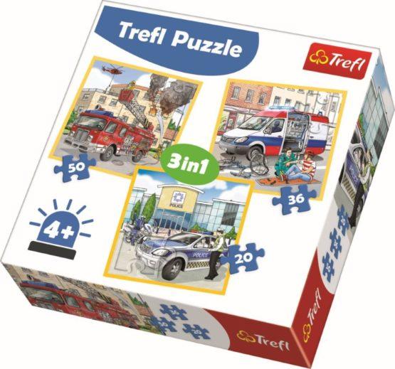 Puzzle Trefl 3in1 Mereu La Timp