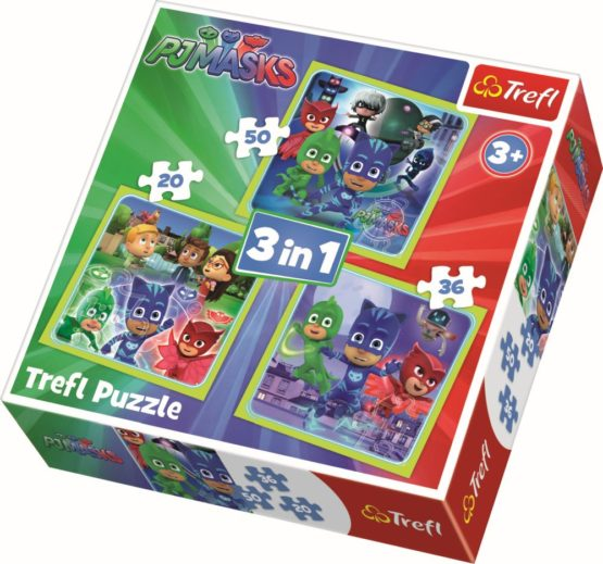 Puzzle Trefl 3in1 Pregatiti De Actiune
