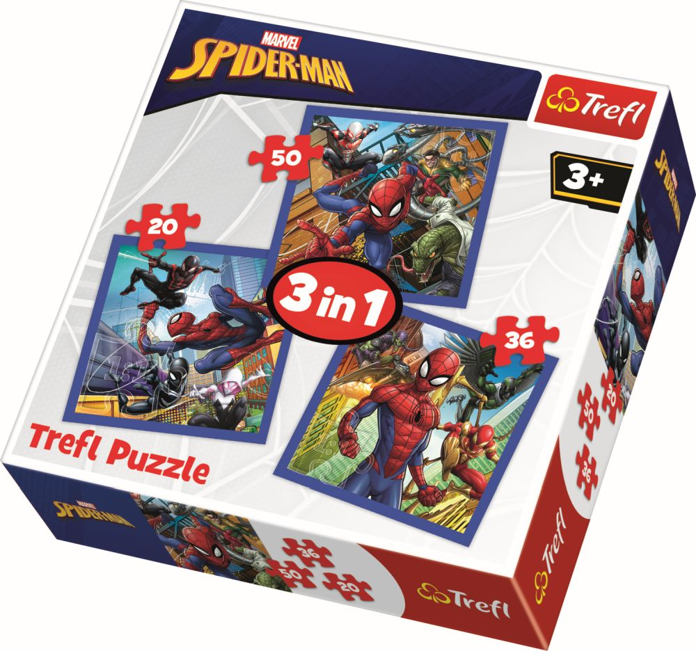 Puzzle Trefl 3in1 Forta Paianjenului