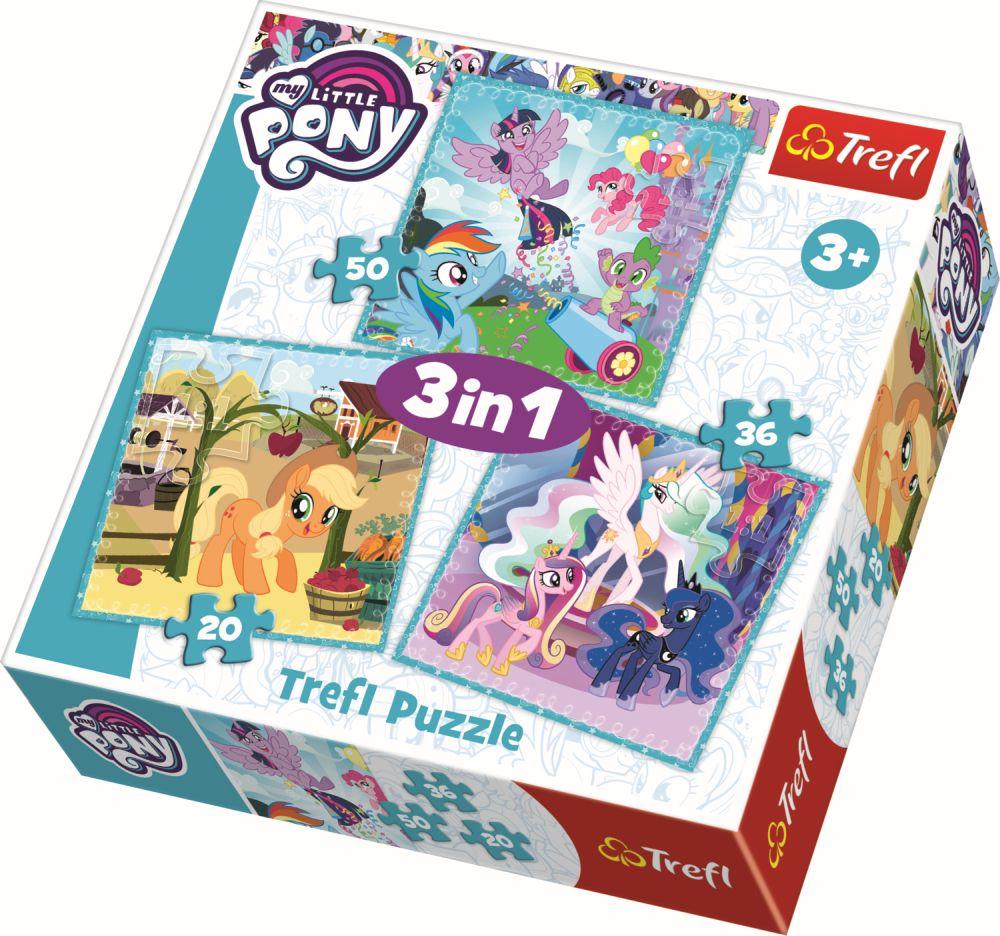 Puzzle Trefl 3in1 Ponei Fericiti