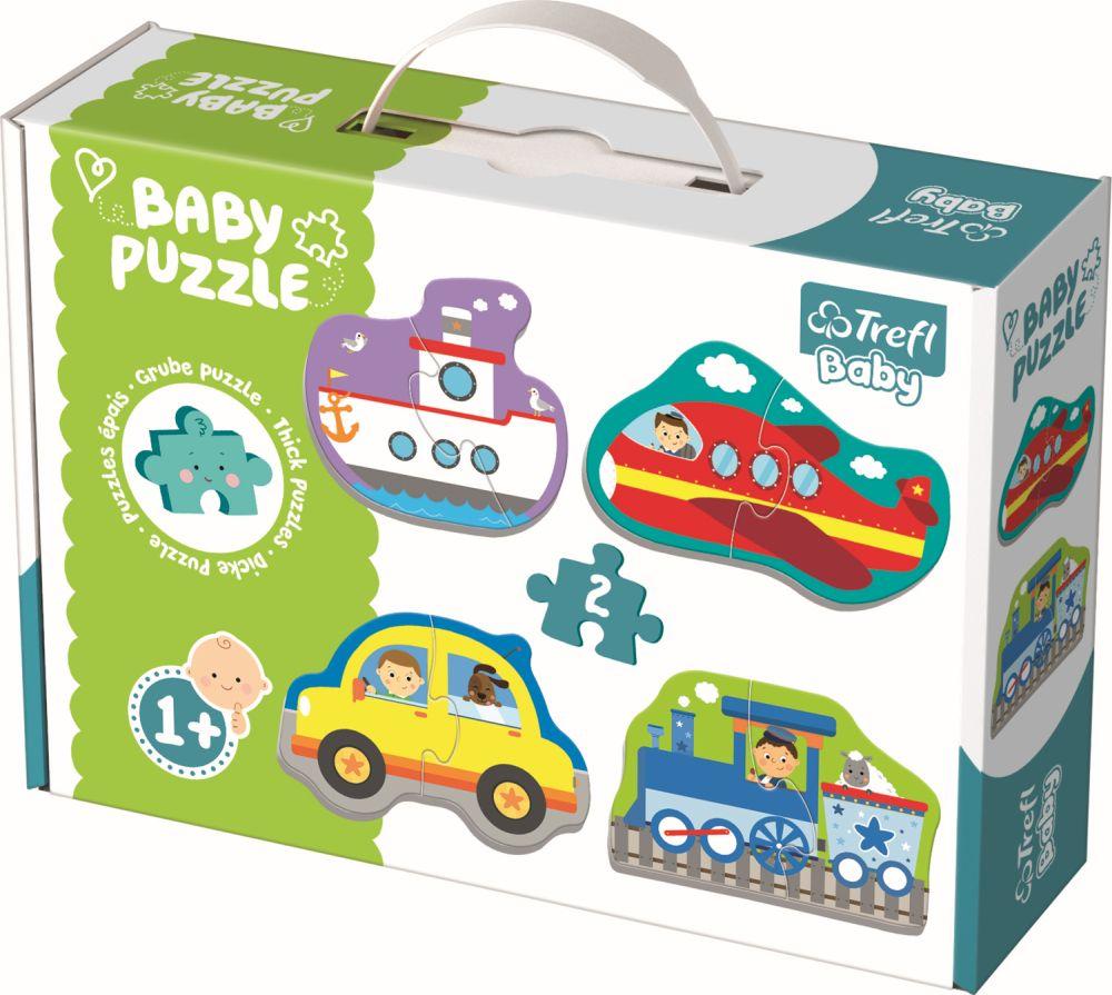 Puzzle Trefl Baby Clasic Vehicule Pentru Transport 8 Piese