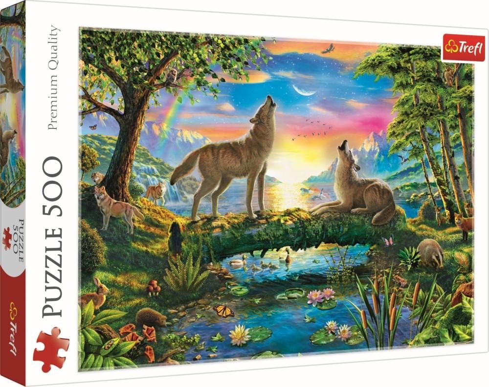 Puzzle Trefl 500 Lupi In Natura