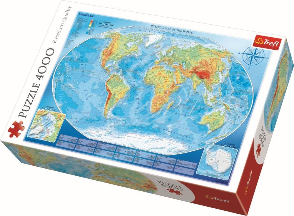 Puzzle Trefl 4000 Harta Fizica A Lumii
