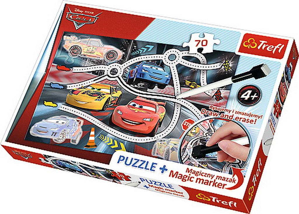 Puzzle Trefl 70 Plus Marker Cars2