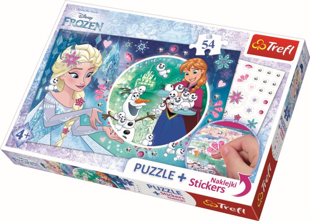 Puzzle Trefl 54 Piese Cu Abtibilde