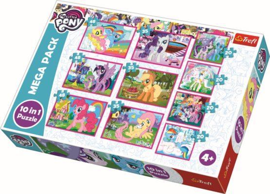 Puzzle Trefl 10in1 Lumea Minunata A Poneilor